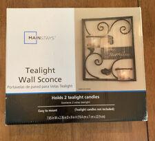 Mainstays Family Tealight Wall Sconce