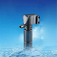 3in1Mini Aquarium Internal Filter Oxygen Submersible Fish Tank Pond Water PumpXS