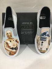 NEW Star Wars Sperry Shoes C3PO R2D2 Men's Cloud Slip On Sneaker Droids Size 10