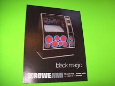 Rowe AMI BLACK MAGIC R-82 Original Phonograph Music Jukebox Promo Sales Flyer