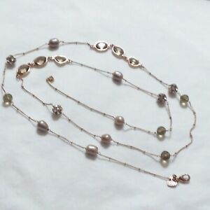 Necklace Copper Glass Acrylic X35