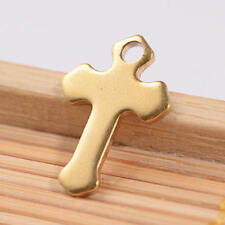 BULK Charms Cross Charms Gold Stainless Steel Wholesale 10pcs 15mm