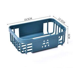 Organiser Basket Tidy Storage Shower Rack Shelf With Suction Kitchen Bathroom