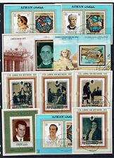 "ARAB STATES ""small collection - AJMAN / FUJEIRAH - blocks"" E592e"