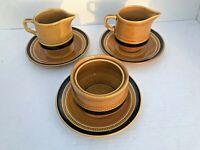 Vintage 1970's Fuji-Stone #2076 Tahiti Creamer Sugar Bowl Saucers 6pc Set