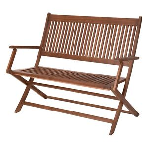 Traditional Outdoor Brown Wooden Garden Patio Furniture Folding Picnic Bench