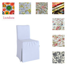Custom Made Chair Cover, Fits IKEA Henriksdal Chair, Long Cover, Patterned