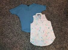 Banana Republic & Maurices pair womens tops size s small lot