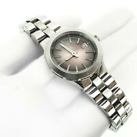 Fossil AM4404 Womens Silver Tone Analog Watch Cocktail Round Faced Pre-owned