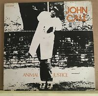 "JOHN CALE Animal Justice 1977 UK 3-track 12"" Vinyl Single EXCELLENT CONDITION"