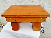 VINTAGE HEAVY SOLID WOOD COFFEE SIDE TABLE