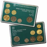Israel Official Mint New Sheqel Coins Set 1991 with Levi Eshkol Coin 1990