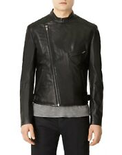 topman motorcycle soft black leather jacket size M In Store $400
