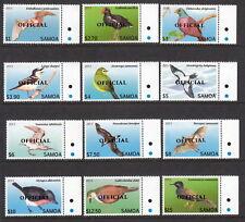 Samoa 2014 Official Overprints on Bird definitives