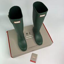 Hunter Rain Boots Tall Womens Hunter Green NIB Waterproof Size 8