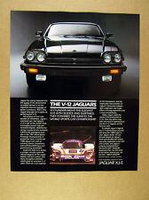 1988 Jaguar XJ-S S-Class & XJR-8 V-12 cars photo vintage print Ad