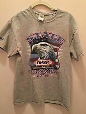 NATIONAL ARCHERY TOURNAMENT T-SHIRT 2014 GRAY WITH EAGLE ON FRONT YOUTH MEDIUM