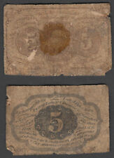 Usa 5 Cents 1862 (G-Vg) Condition Banknote Jefferson Fractional Currency
