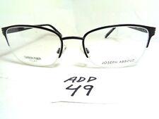 376c692ad8b9 New JOSEPH ABBOUD Eyeglasses JA4001 jet Half Rim Carbon Fiber Inlay (ADD-49)