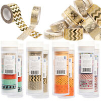 16 Rolls Assorted Thick & Thin Washi Masking Tape Set By Little B Bulk DIY Craft