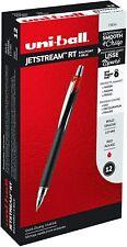 73834 Uni-Ball Jetstream RT Ballpoint Pen, Red Ink, Bold Tip 1.0mm, Box of 12