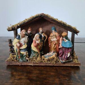 Vintage Christmas Nativity Manger Scene Snow White Collection Christmas Nativity
