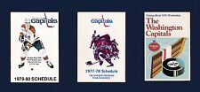 Washington Capitals vintage 1970's hockey schedule lot 6-different