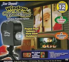 STAR SHOWER WINDOW WOUNDERLAND PROJECTER SYSTEM WITH 12 MOVIES & SCREEN