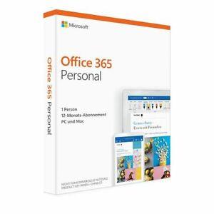 Microsoft 365 Single (früher Personal) 5 PC Mac Geräte Android Tablet 1 Jahr