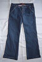 Juniors C.Pink Denim Blue Jeans ~ Sz 11 ~ Boot Cut ~ Cuff ~ Mid Rise