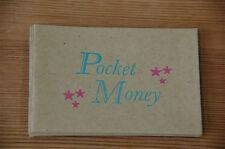 Pack of 6 Handprinted Pale Blue Pocket Money Envelopes by Marby & Elm (D4G)