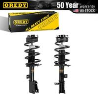 2x Front Quick Complete Struts & Coils Springs w/ Mounts For Dodge Journey 09-13