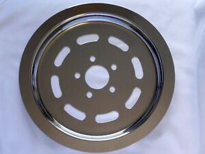 Harley 70 tooth 70t chrome slotted rear belt pulley sprocket cover