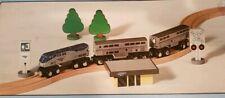 Amtrak Wooden Train Set Superliner & Passenger Coach Cars New works w Thomas