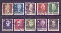Berlin 1952 - Berühmte Männer MiNr.91/100 rund gestempelt - Michel 50,00 € (701)