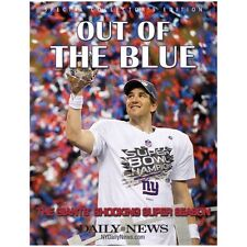 "New York Giants NFL Super Bowl xlvi champions ""out of the blue"" livre """