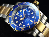 RARE New Legend Mens 200M Deep Blue Diver Auto Sapphitek BLUE Dial TT SS Watch