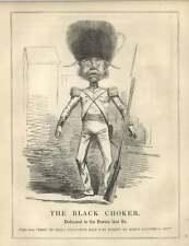 1854 Tight Laçage règlement en Cuir Noir Tour de Cou Tête tombe Satire