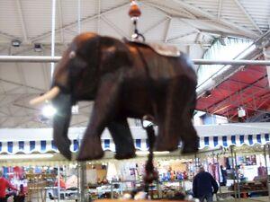 FAIRTRADE  WOODEN ELEPHANT  WIND CHIMES BRAND NEW GARDEN HANDMADE 7CM HIGH