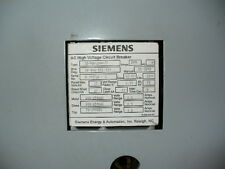 Siemens 15 kV, 1200 amp, FSV-1000-77,