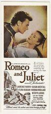 "Romeo & Juliet 1954 4"" x 9"" promotional blotter"