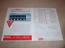 McIntosh C 20 Preamp Ad,1955, Rare Ad! 2 pgs,Info
