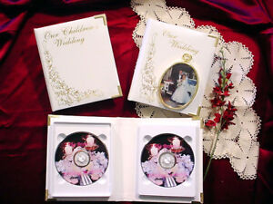 Leather Wedding DVD Album - Double DVD Event Case - new