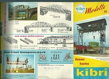 Catalogue Kibri 1960 train HO catalogo katalog jouet ancien constructions rare
