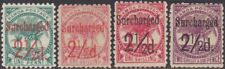 FULL SET Samoa 1899 Surcharged Definitive 2.1/2d MH & MNG Stamps SG84/87