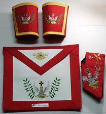 Masonic Scottish RedRite Rose Croix 18th Degree Apron, Gauntlets and Collar Set