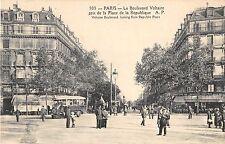 CPA 75 PARIS Xe LE BOULEVARD VOLTAIRE PRIS DE LA PLACE DE LA REPUBLIQUE