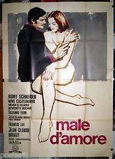 manifesto 4F film MALE D'AMORE - UN AMOUR DE PLUIE Romy Schneider 1974 Simeoni