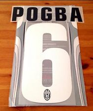 2012-13 Juventus Home Shirt POGBA#6 Official STILSCREEN Name Number Set