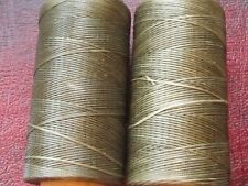 Waxed Artificial Sinew 1.2 mm. for Leather etc Dark Army Green  Polyester